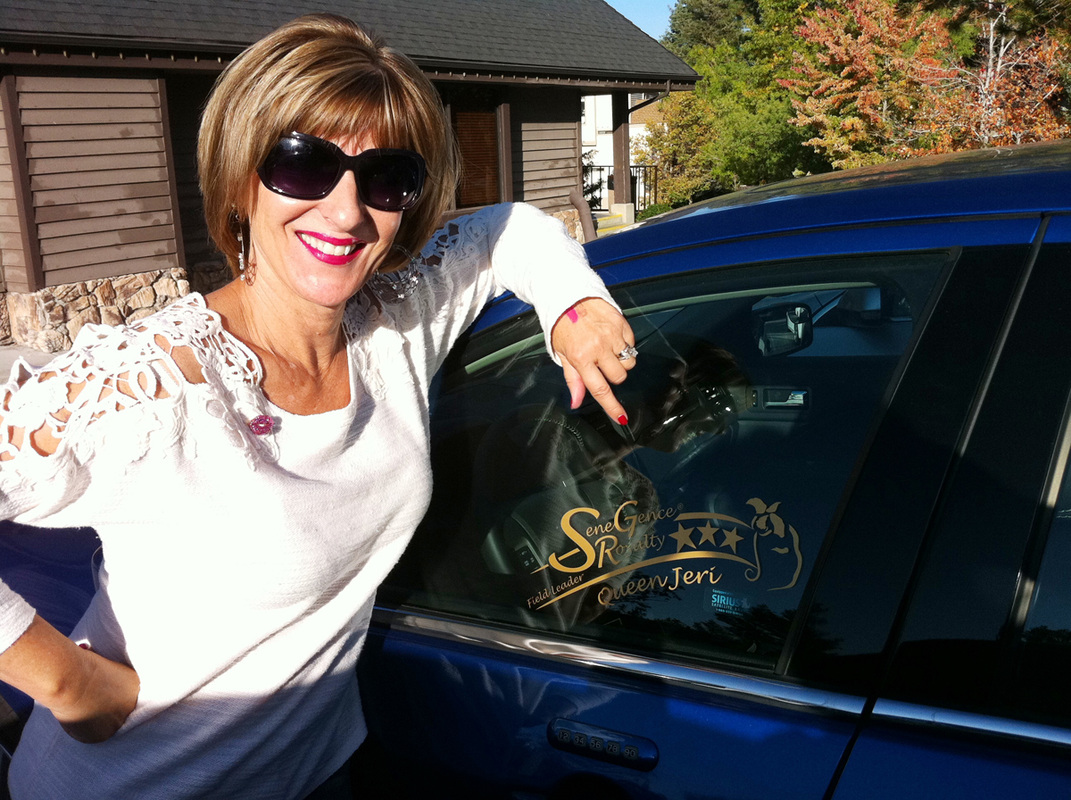Jeri Taylor-Swade with her SeneGence car