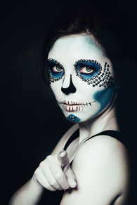 Sugar Skull Makeup- Liquid Makeup