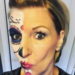 have you ever wanted to do a sugar skull look for halloween have you ever done one and your halloween makeup smeared or smudged all over your face