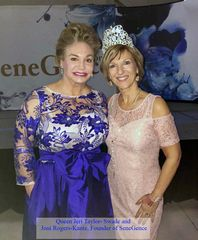Queen Jeri Taylor-Swade with Joni Rogers-Kante, Founder of SeneGence International